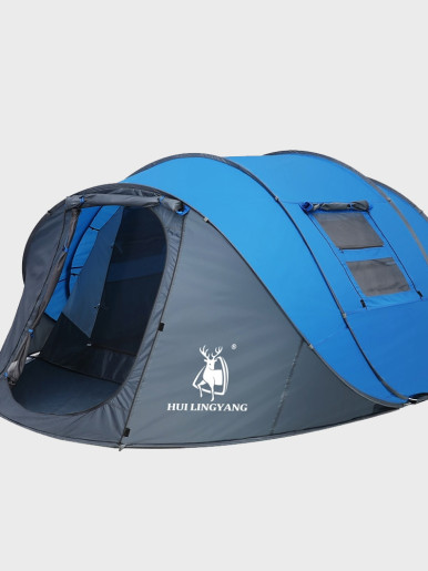 Throw Pop Up Tent 5-6 Person Outdoor Automatic Tents Double Layers
