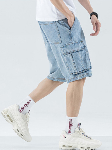 Denim Shorts Men's Loose Baggy Short