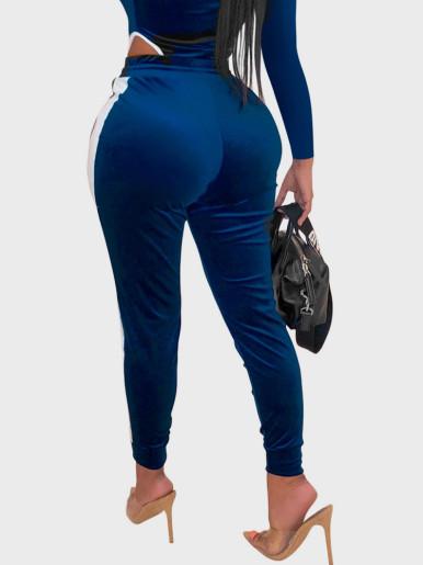 Long Sleeve Velour Sporty Jumpsuit Women