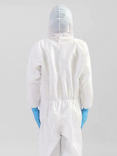 Disposable Protective Coverall Hooded Suit