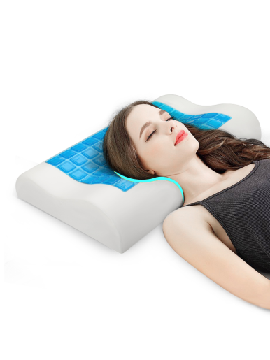 Slow Rebound Pressure Cervical Pillow Gel Memory Foam Pillow for Sleeping