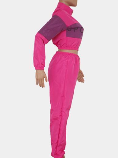 Cropped Jacket + Pants Women Sporty Sets