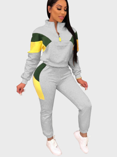Colourblock 2 Piece Women Tracksuit