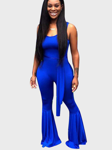 Women Skinny Jumpsuit with Flare Leg