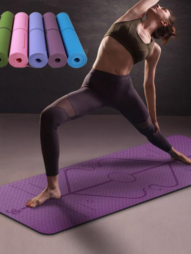 TPE Fitness Mat with Position Line Non Slip