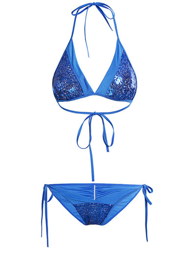 Sequin Embellished Women Bikini Set