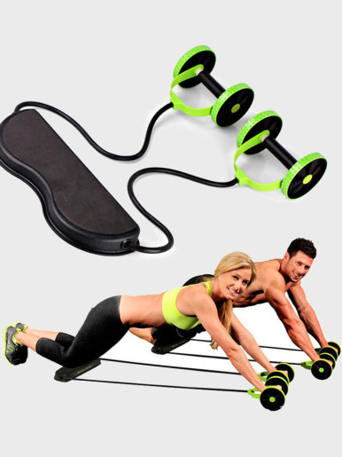 AB Roller Wheels Stretch Elastic Abdominal Resistance Pull Rope Tool