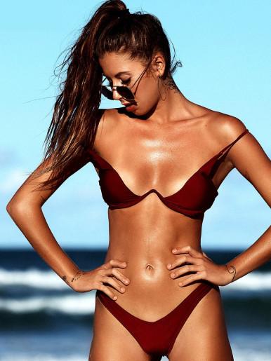 Plunge Underwire Bikini Set Women