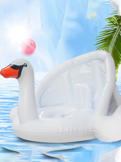 Inflatable Swimming Ring Baby Pool Float Seat with Awning