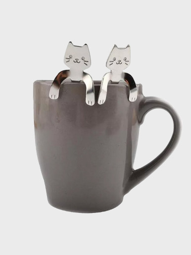 Cute Cat Spoon Creative Coffee Spoon Stainless Steel Dessert