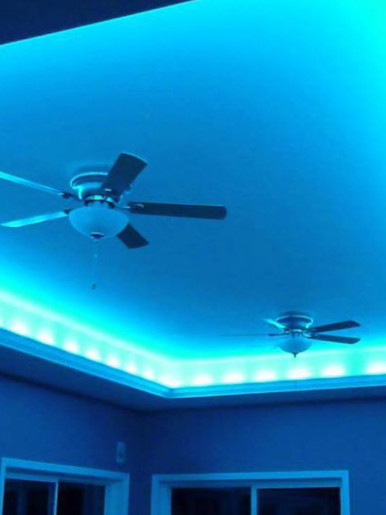 Color Changing LED Light Strip  (Remote + Battery Included)