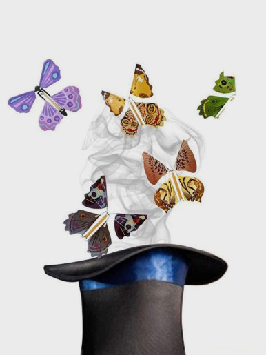 5 pcs Flying Butterfly Little Magic Tricks Toys For Kids