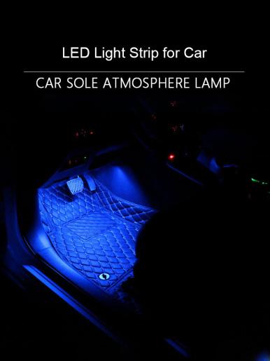 4 in 1 Car Interior RGB LED Light Strip With Remote DC12V