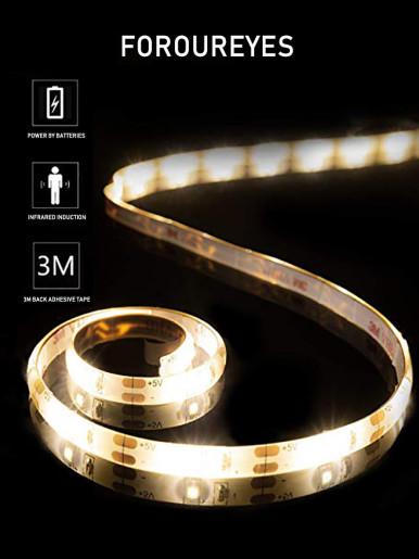 SMD2835 PIR Motion Sensor Induction LED Light Strip 10FT