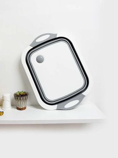 Foldable Kitchen Chopping Blocks Tool 3 in1 Multifunctional Drain Basket Cutting Board Colander