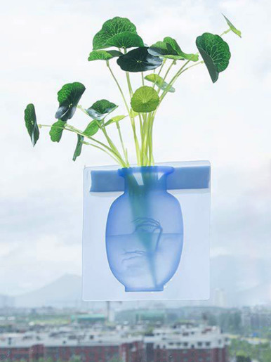 Wall-Mounted Silicone Vase Sticker