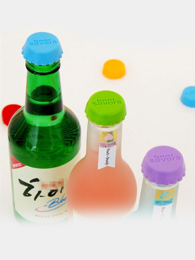 Beer Savers Silicone Bottle Caps (Set Of 6)