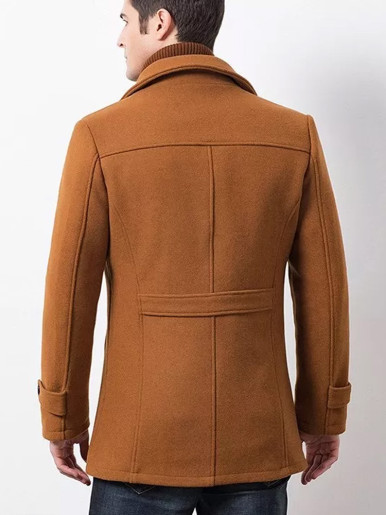 Winter Men's Wool Trench Coat Business Casual