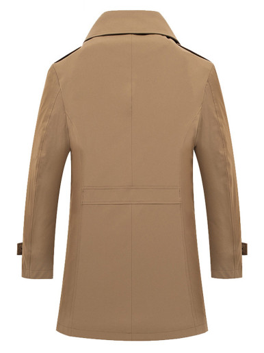 Business Double Breasted Men's Trench Coat
