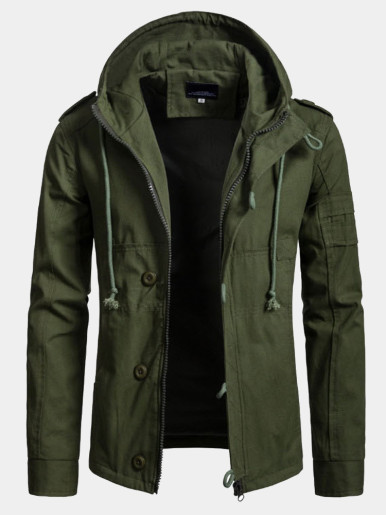 Loose Men's Jacket Hooded Military Jackets