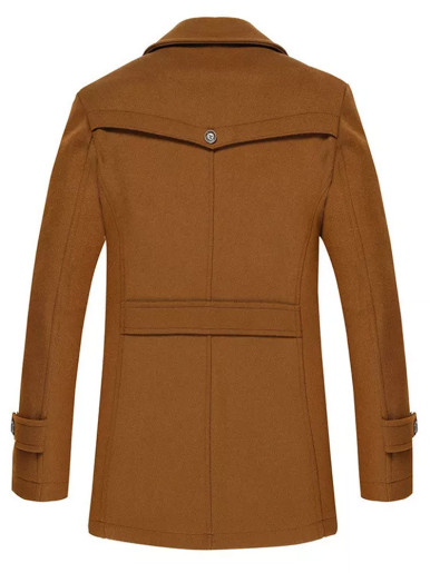 Autumn Spring Slim Wool Coat For Men