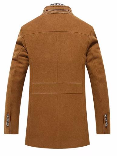Winter Warm Slim Wool Coat Men