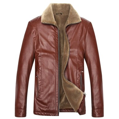 Pop Plus Size 8XL 6XL 6XL 5XL Warm Winter Sheepskin Men Leather Jacket Men Leisure Coat Men Fur Lining Jackets Outerwear Parka