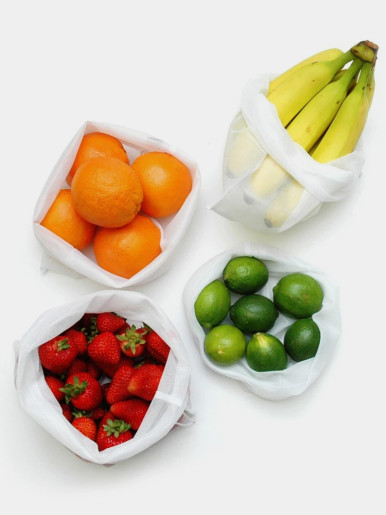 Zero-Waste Reusable Produce Bags (12 Pieces)