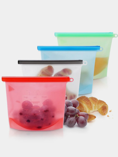 Zero-Waste Reusable Silicone Food Bags (1000/ 1500 ml)