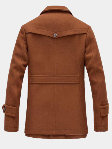 Men Wool Overcoat Pea Coat