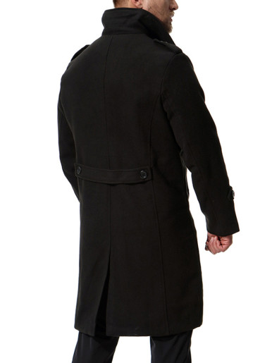 Single Breasted Long Line Trench Coat Men