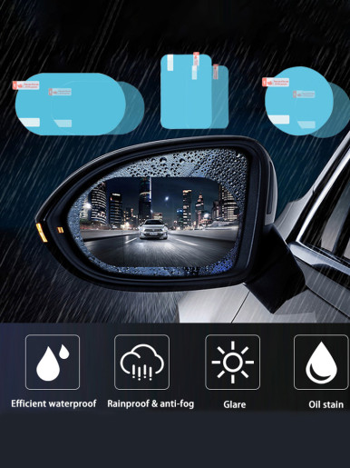 Anti Fog Rainproof Sticker Car Rear Mirror Protective Film