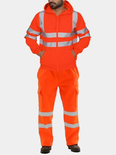 Reflective Taping Worker Tracksuit Suit For Men