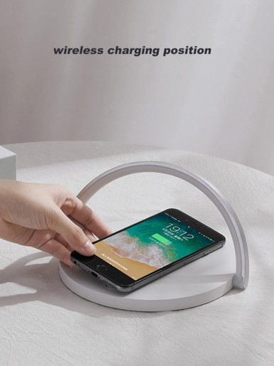 2 In 1 Wireless Mobile Charger + Table Lamp