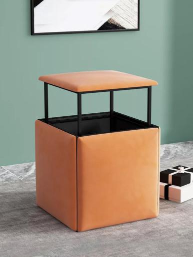 5 in 1 Cube Stool Convertible Cube Ottoman