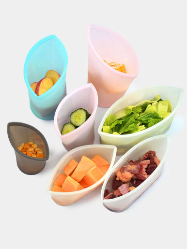 Silicone Zip Containers Free Food Storage