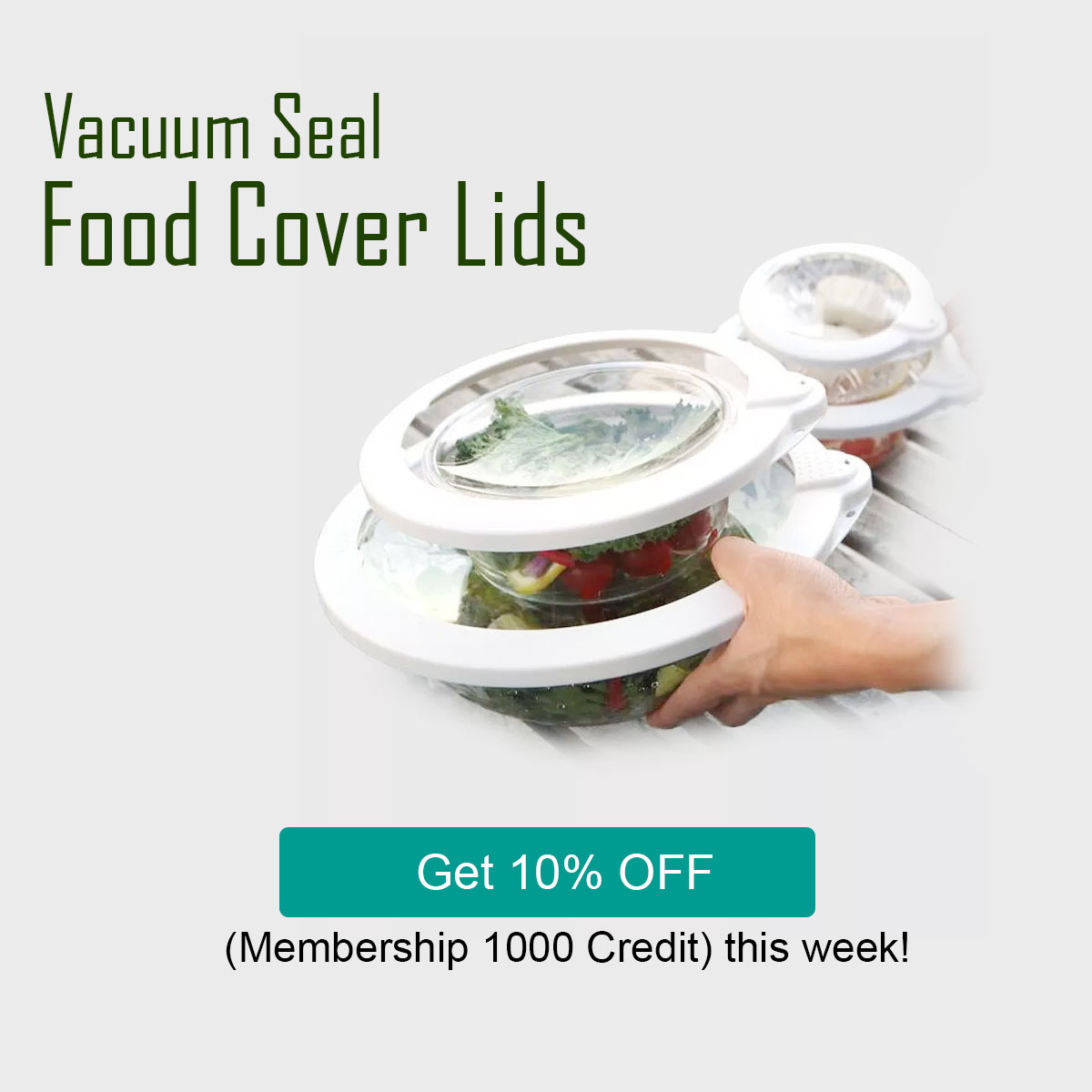 Vacuum Seal Food Cover Lids Food Fresh Keeping