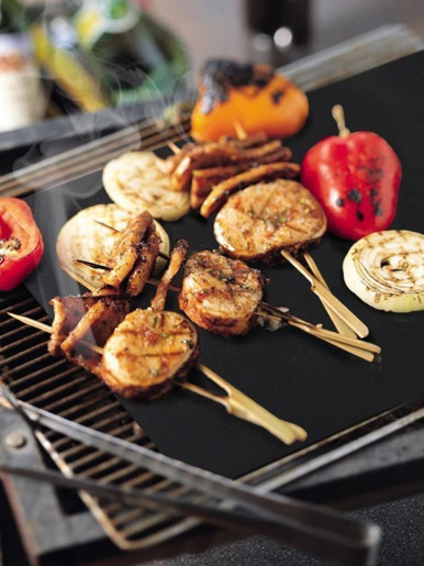 3pcs Reusable Non-Stick BBQ Grill Mats