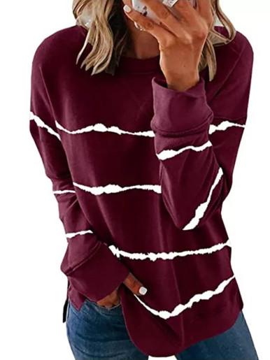 Tie Dye Stripe Women Sweatshirt