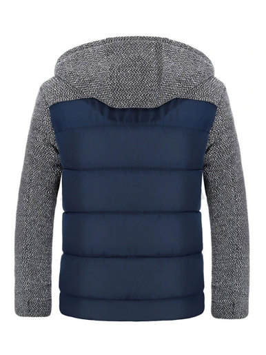 Spliced Padded Jacket with Quilted Body