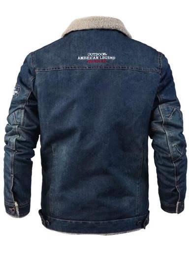 Mens Borg Lined Denim Jacket