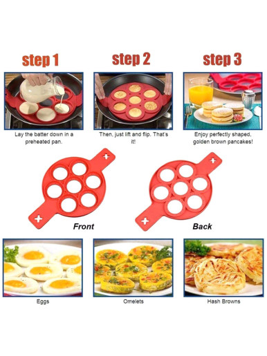 1Pcs Silicone Non Stick Egg Pancake Maker