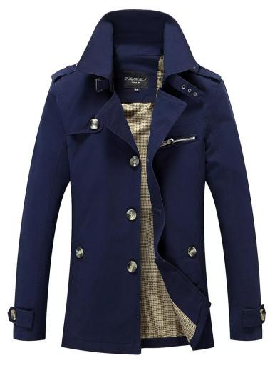 Slim Fit Men's Trench Coat