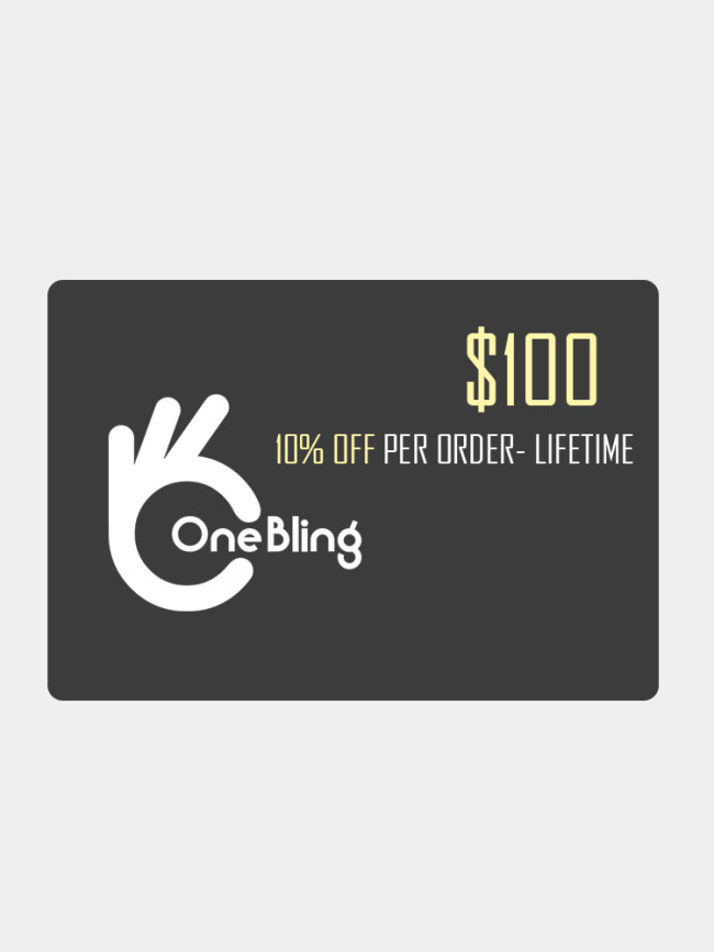 OneBling Membership Card $50 $100 $500 $900, BUY MORE, SAVE MORE SALE!