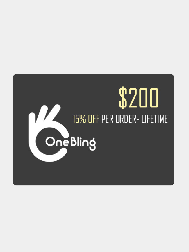OneBling Membership Card $50 $100 $500 $900, BUY MORE, SAVE MORE SALE!