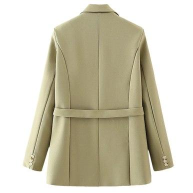 With Belt Loose Blazer Coat Vintage Jacket