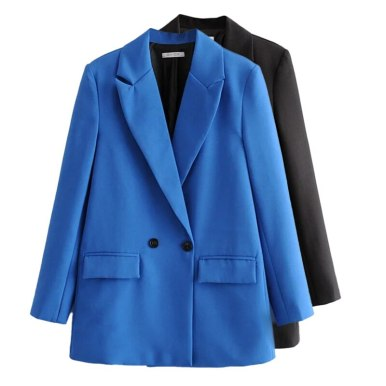 Office Lady Double Breasted Blazer Vintage Coat