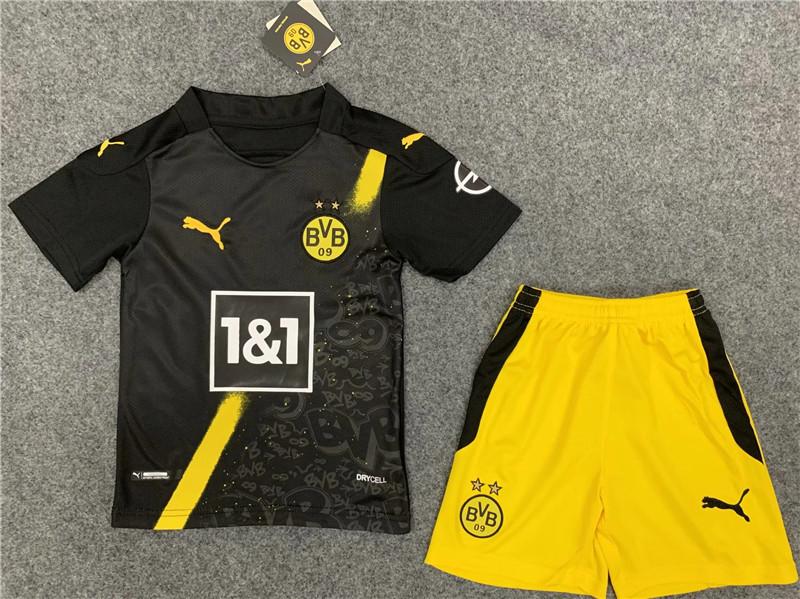 Kids kit 20-21 Borussia Dortmund Away Thailand Quality ...