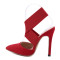 Summer 2019 spring fashion women's shoes red sexy stilettos sexy high heels pointed toe sandals wedding shoes high heels 12cm