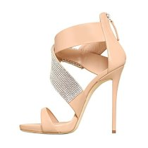Arden Furtado fashion sandals women's shoes 2019 stilettos heels buckle strap online celebrity big size crystal rhinestone shoes